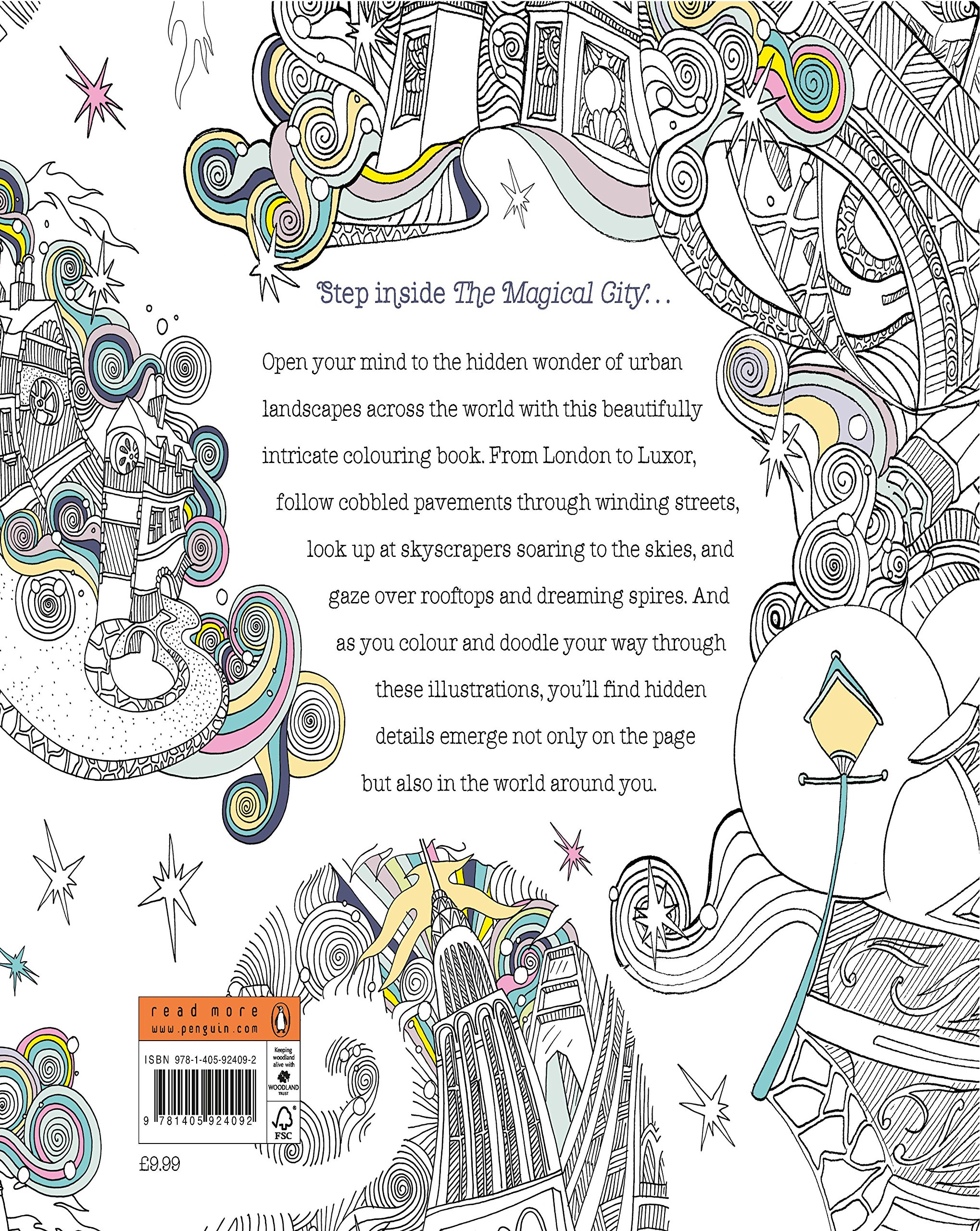 The Magical City A Colouring Book By Lizzie Mary Cullen